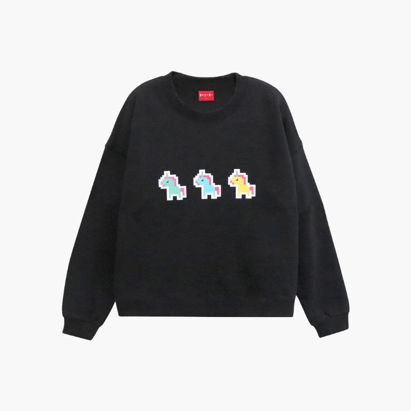 MYKIMI Unicorn sweat shirt Black
