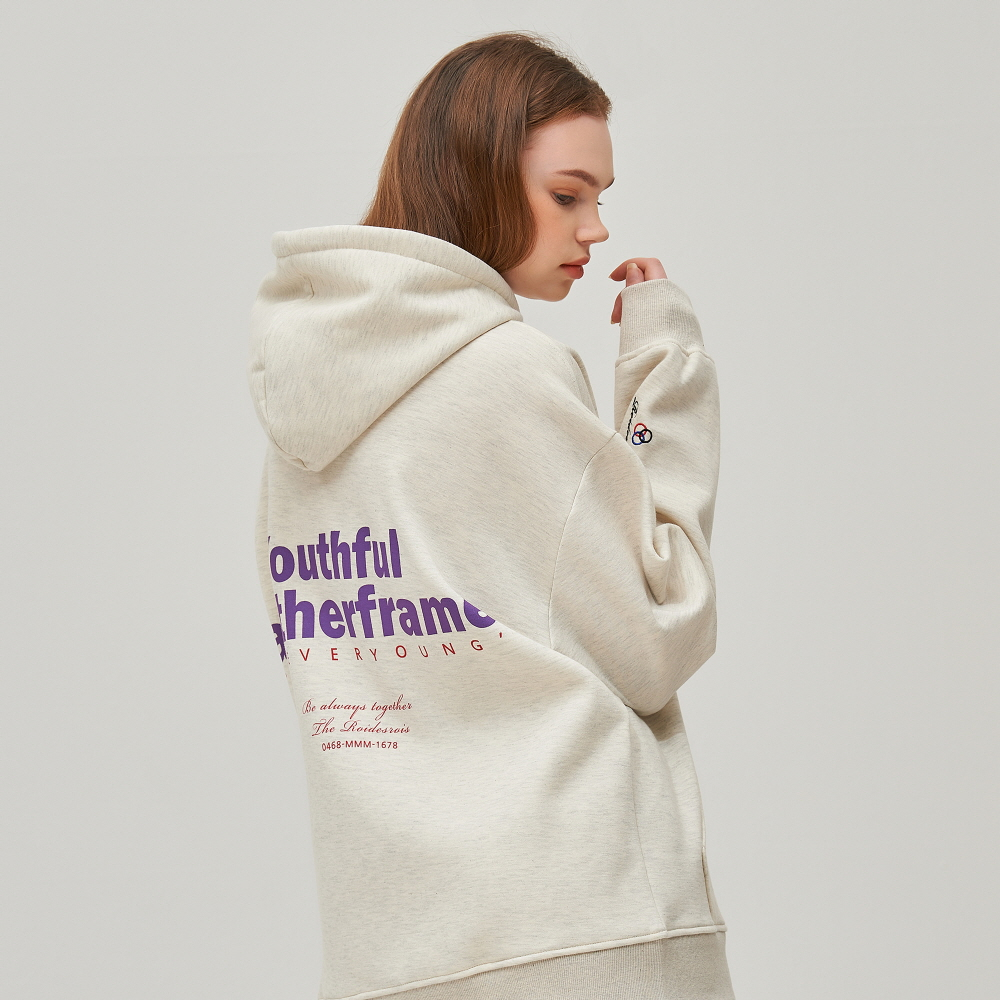 FOREVER YOUNG HOODIE (OATMEAL)