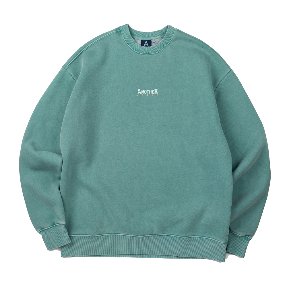 [어나더프레임] ANOTHER GAP PIGMENT CREWNECK (GREEN)