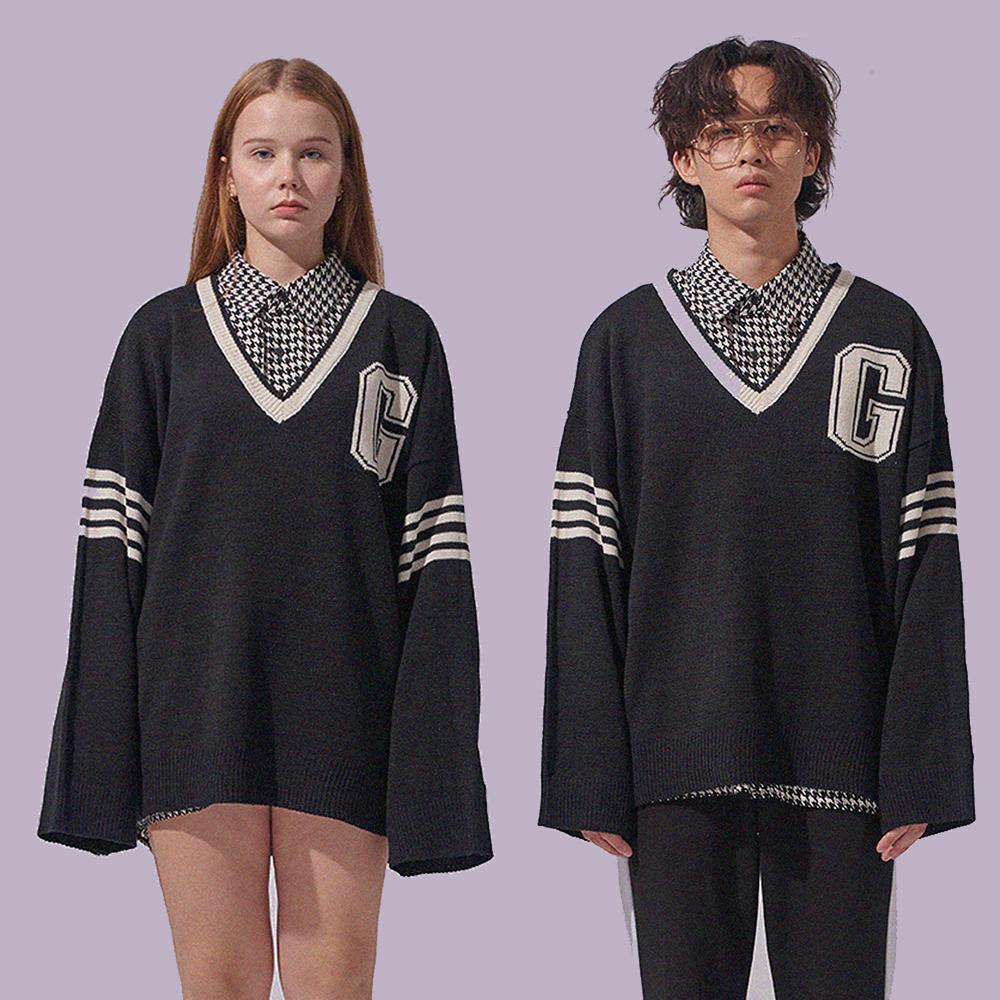 [1+1]G 로고 테니스 스웨터