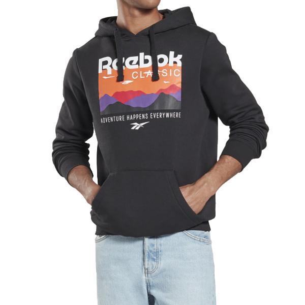 [해외]리복 클래식 트레일 후드티셔츠 블랙 FR6690