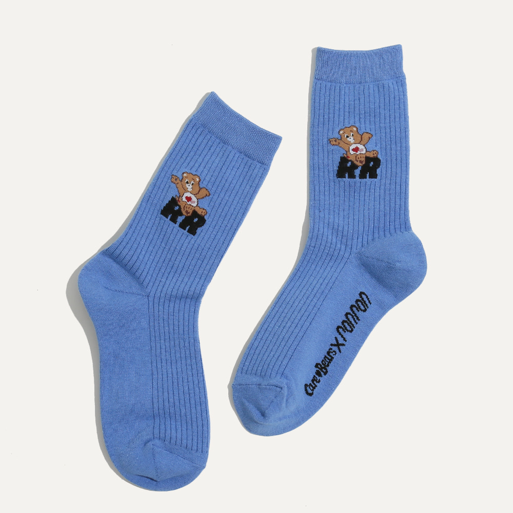 CARE BEARS X RONRON DAILY SOCKS BLUE