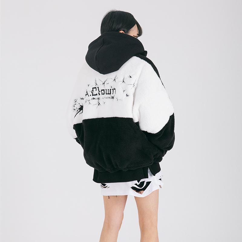 [A.Clown]럭비 양면보아털 누빔패딩 자켓