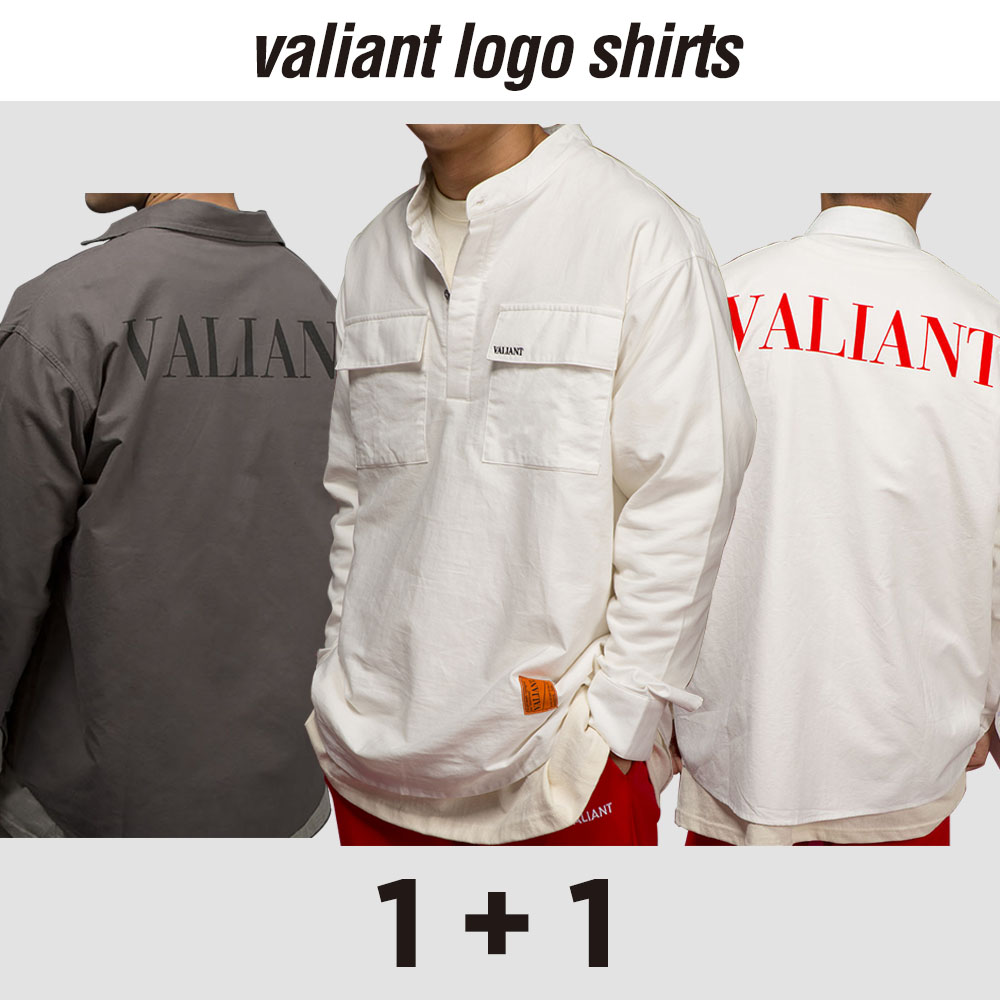 [단독상품][기획1+1]발리안트 로고 셔츠 [dark gray/white]