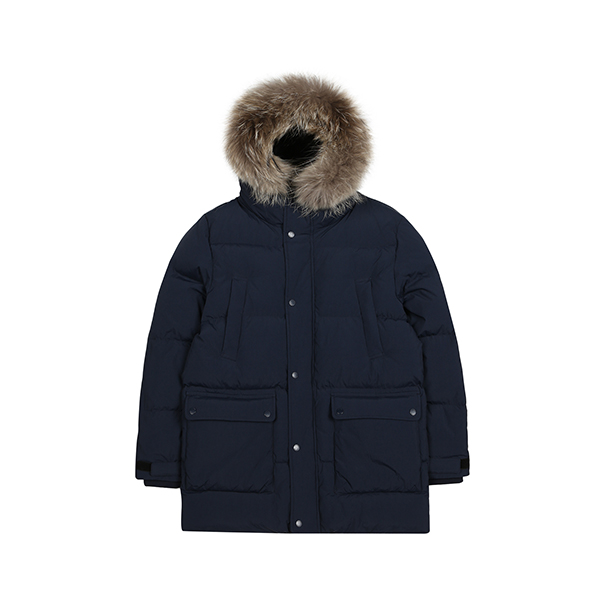 Hooded puffer half-down 9549 NAVY