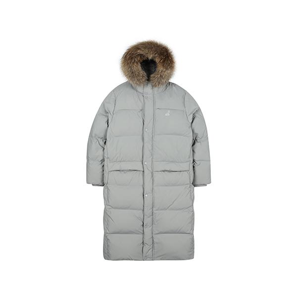 [아우터특가]Fur hooded Long Down 9552 GREY
