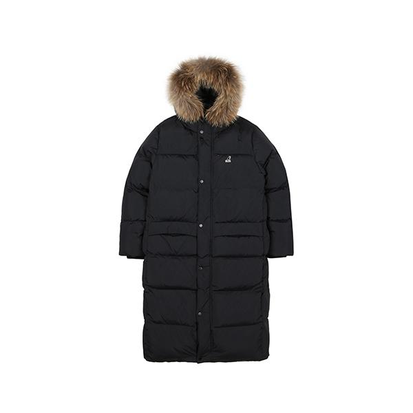 [아우터특가]Fur hooded Long Down 9552 BLACK