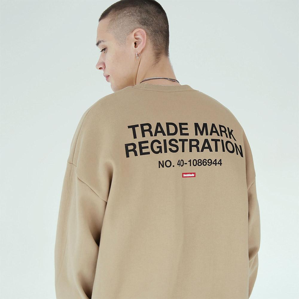 [단독할인]레지스트레이션 맨투맨 티셔츠-베이지