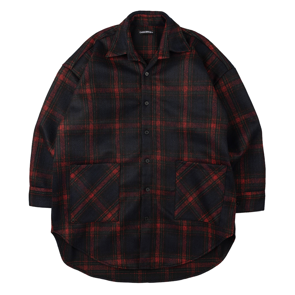 CB Check Shirt Jacket (BLACK)