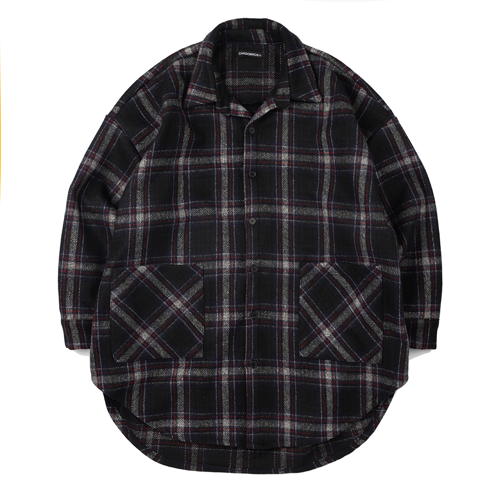 CB Check Shirt Jacket (NAVY)