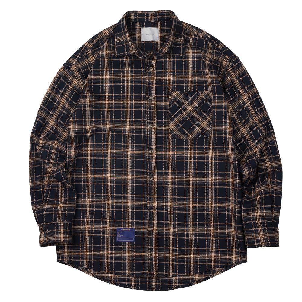 체크 셔츠 (네이비)