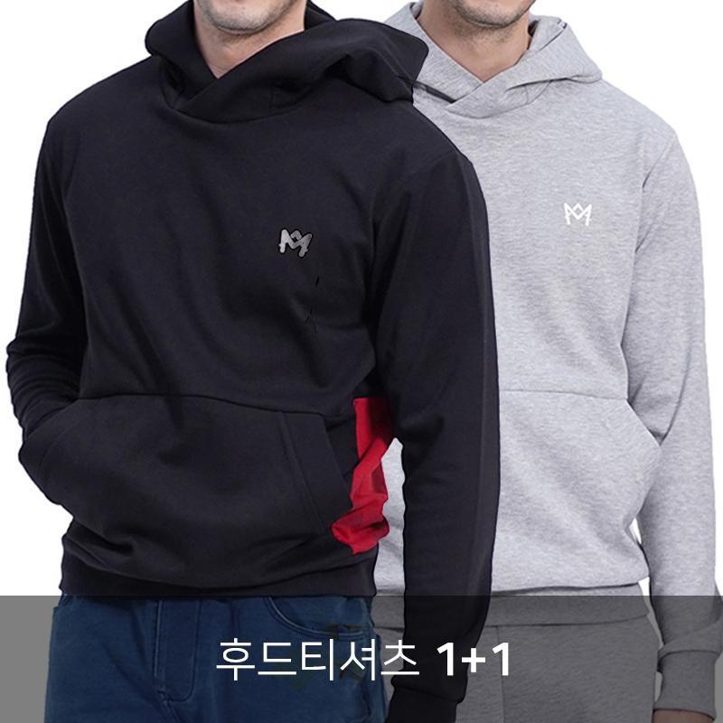 [1+1] (UNISEX) Royal M Color Hood (2colors)