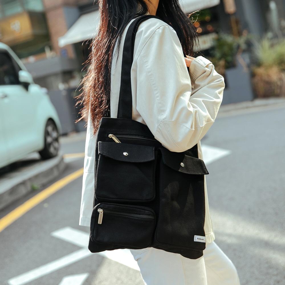 CL MARK ECO BAG (BLACK)