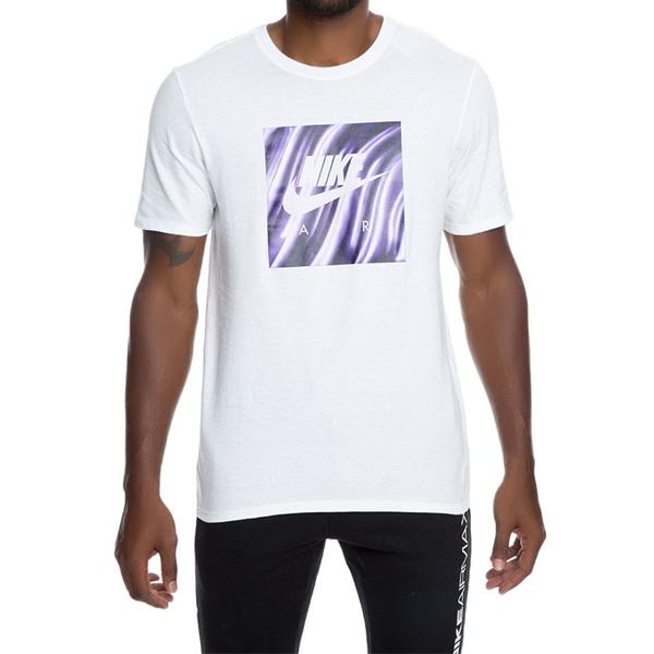 [해외]나이키 FOAM SHOE 티셔츠 화이트 퍼플 AH6968-100