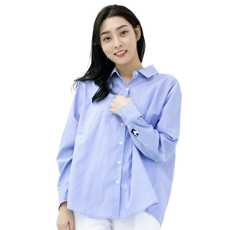 SODE-M Stripe Back Double-warp Shirt (SKY BLUE)