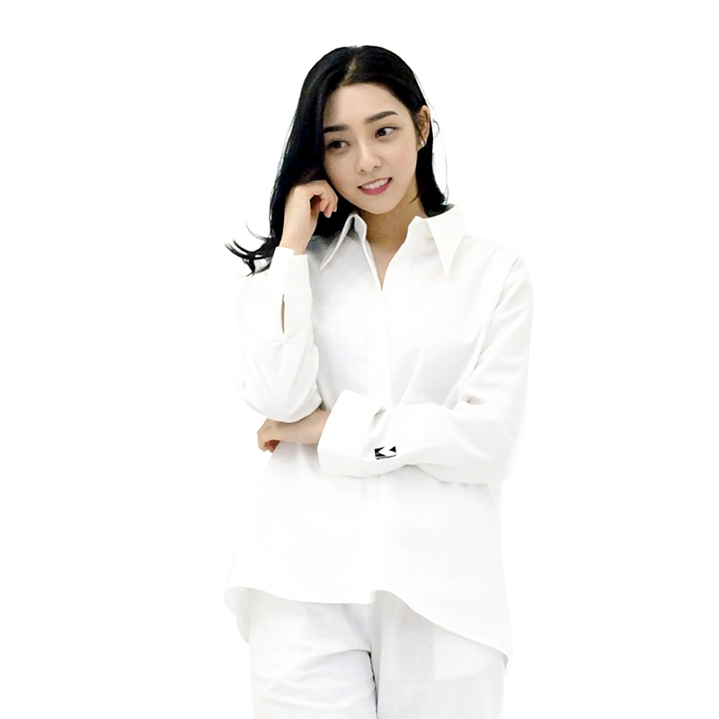 SODE-M Oxford : Long-collar Shirt (WHITE)