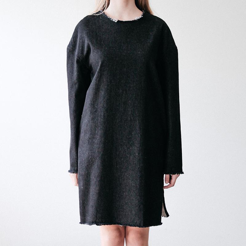 DENIM DRESS (BLACK)
