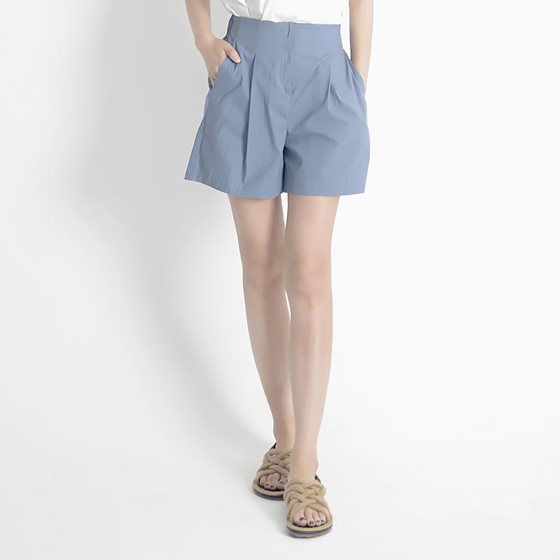 Linen Shorts (BLUE)