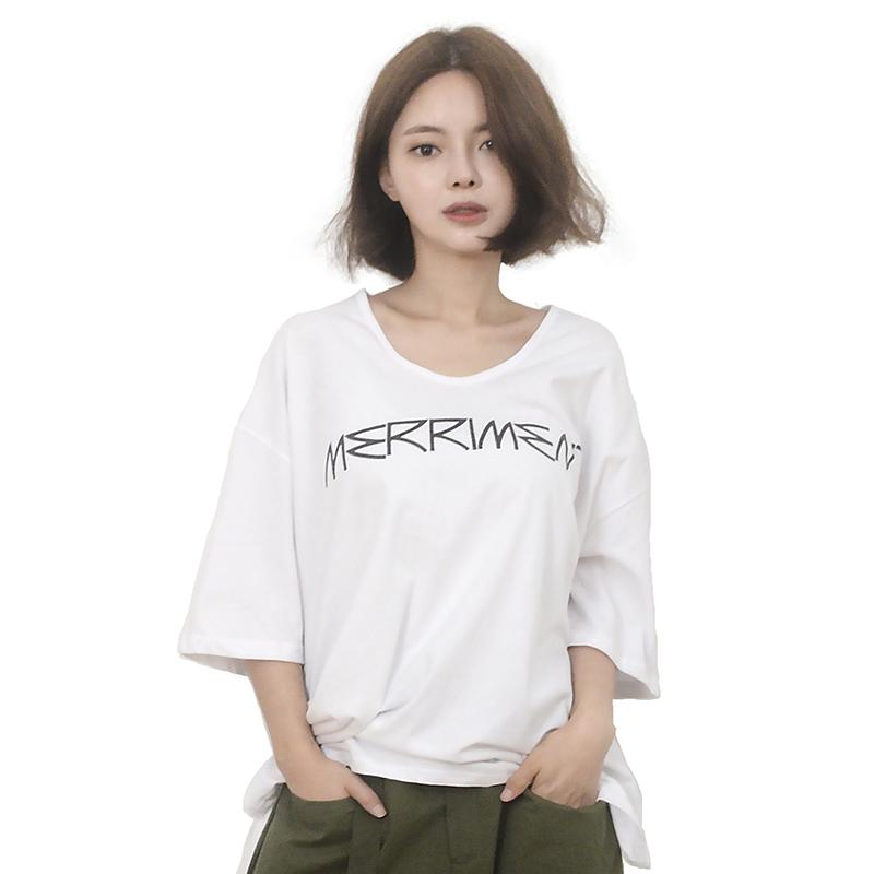 Back Lovely M Short Sleeve T-Shirt (WHITE)