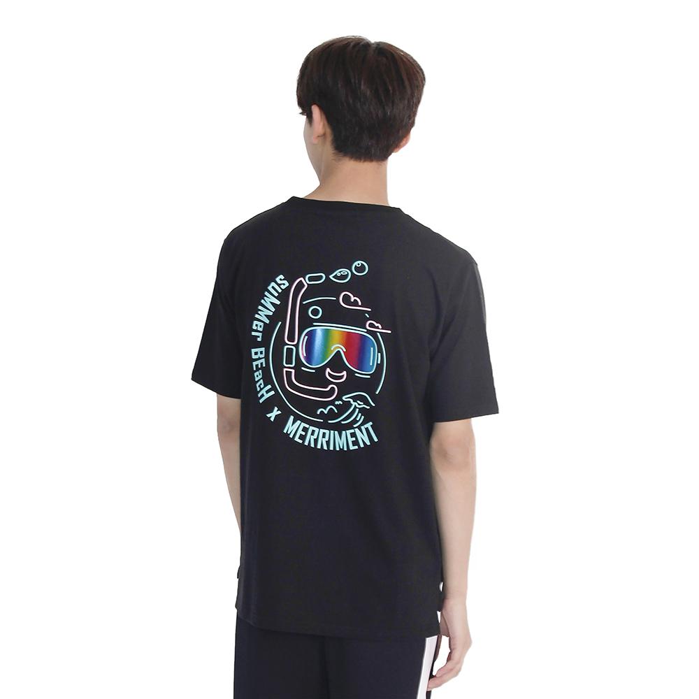 (UNISEX) Summer Diver Short Sleeve T-Shirt (BLACK)