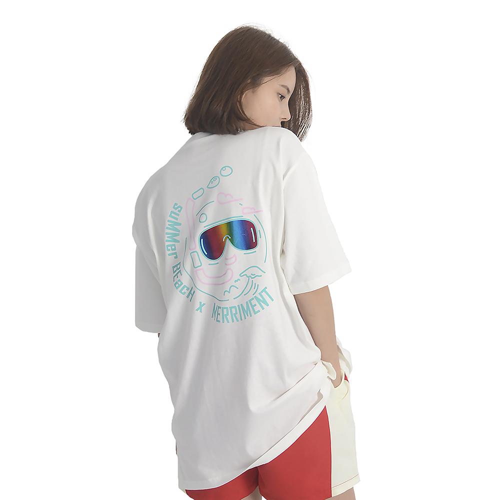 (UNISEX) Summer Diver Short Sleeve T-Shirt (WHITE)