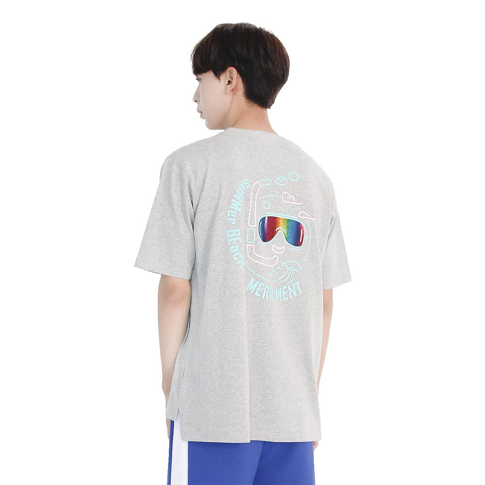 (UNISEX) Summer Diver Short Sleeve T-Shirt (GREY)