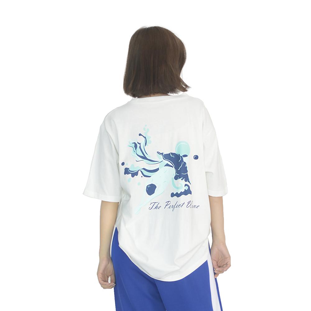 (UNISEX) Perfect wave Short sleeve T-Shirt (WHITE)