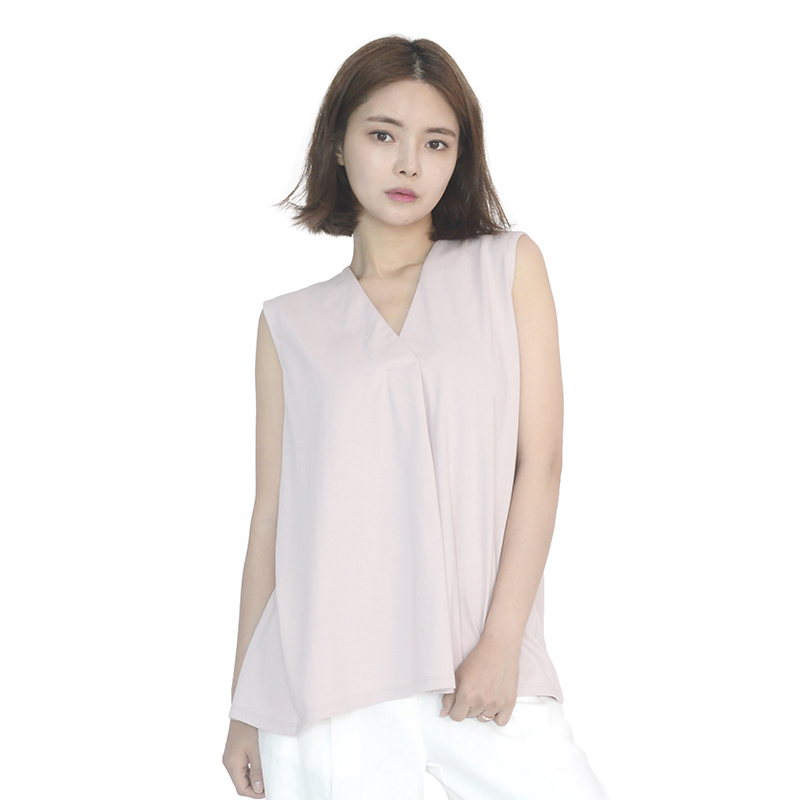 Chiffon Sleeveless Blouse (PINK)