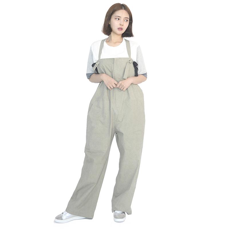 (UNISEX) Wide Overall Pants (KHAKI)