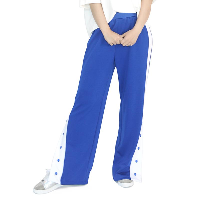 (UNISEX) Slit Track Pants (BLUE)