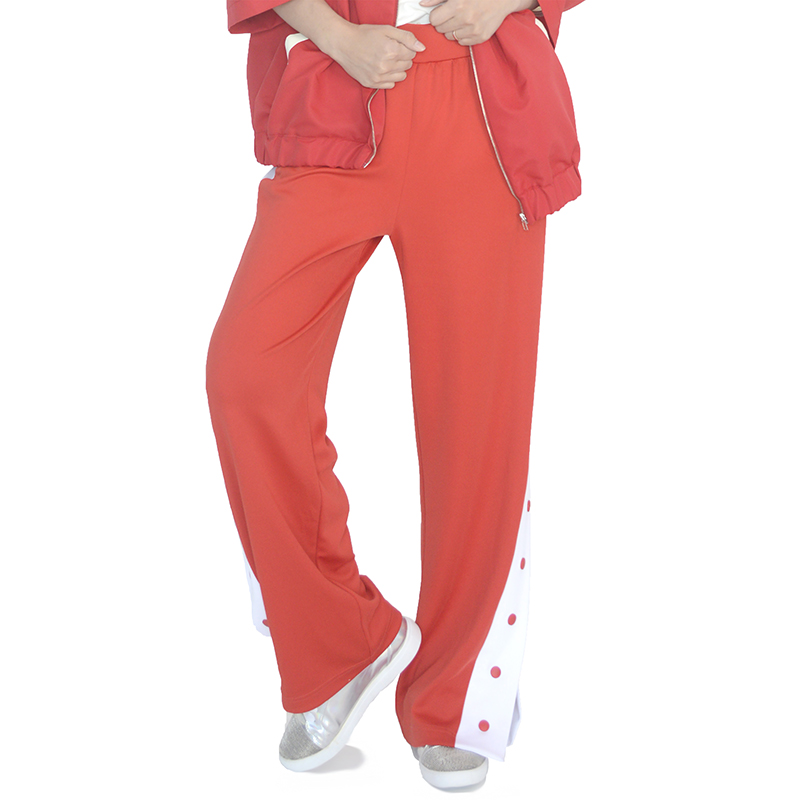 (UNISEX) Slit Track Pants (RED)