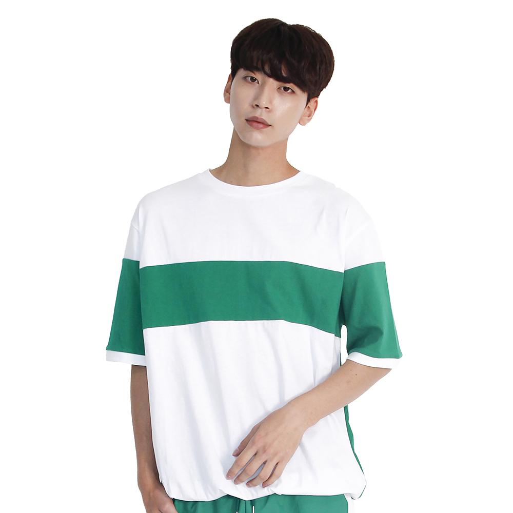 (UNISEX) MRMNT Block Short Sleeve T-shirt (GREEN)