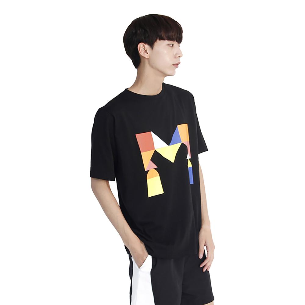 (UNISEX) Colorful M Logo Short Sleeve T (BLACK)