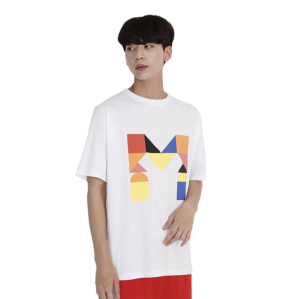 (UNISEX) Colorful M Logo Short Sleeve T (WHITE)