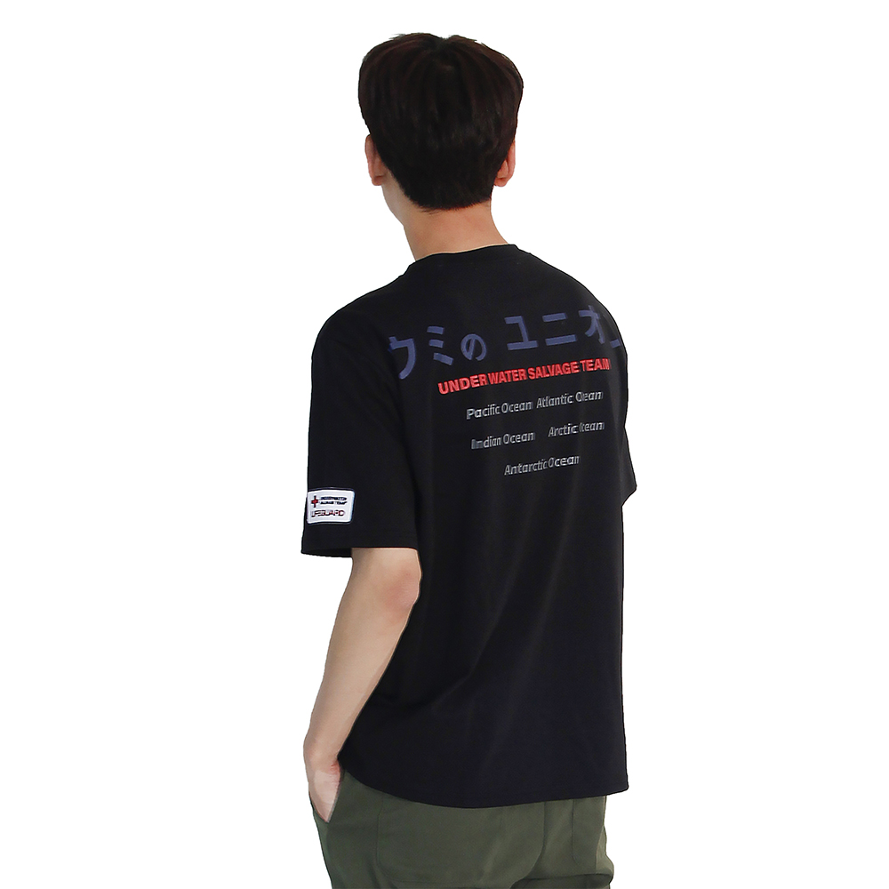 (UNISEX) Underwater Guard Short Sleeve T (BLACK)