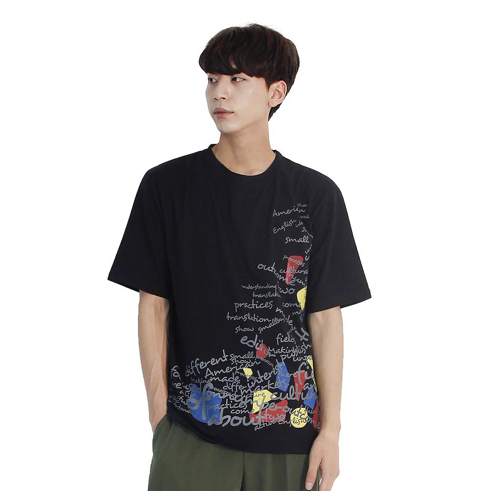 (UNISEX) Blah Blah Short Sleeve T-shirt (BLACK)