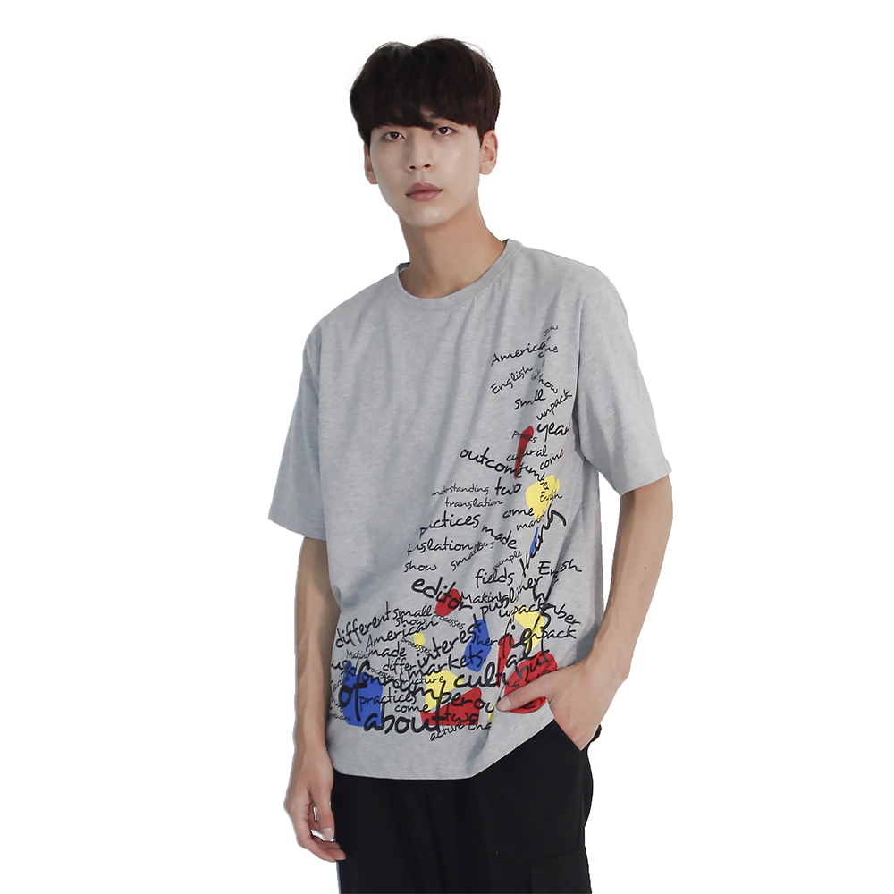 (UNISEX) Blah Blah Short Sleeve T-shirt (GREY)