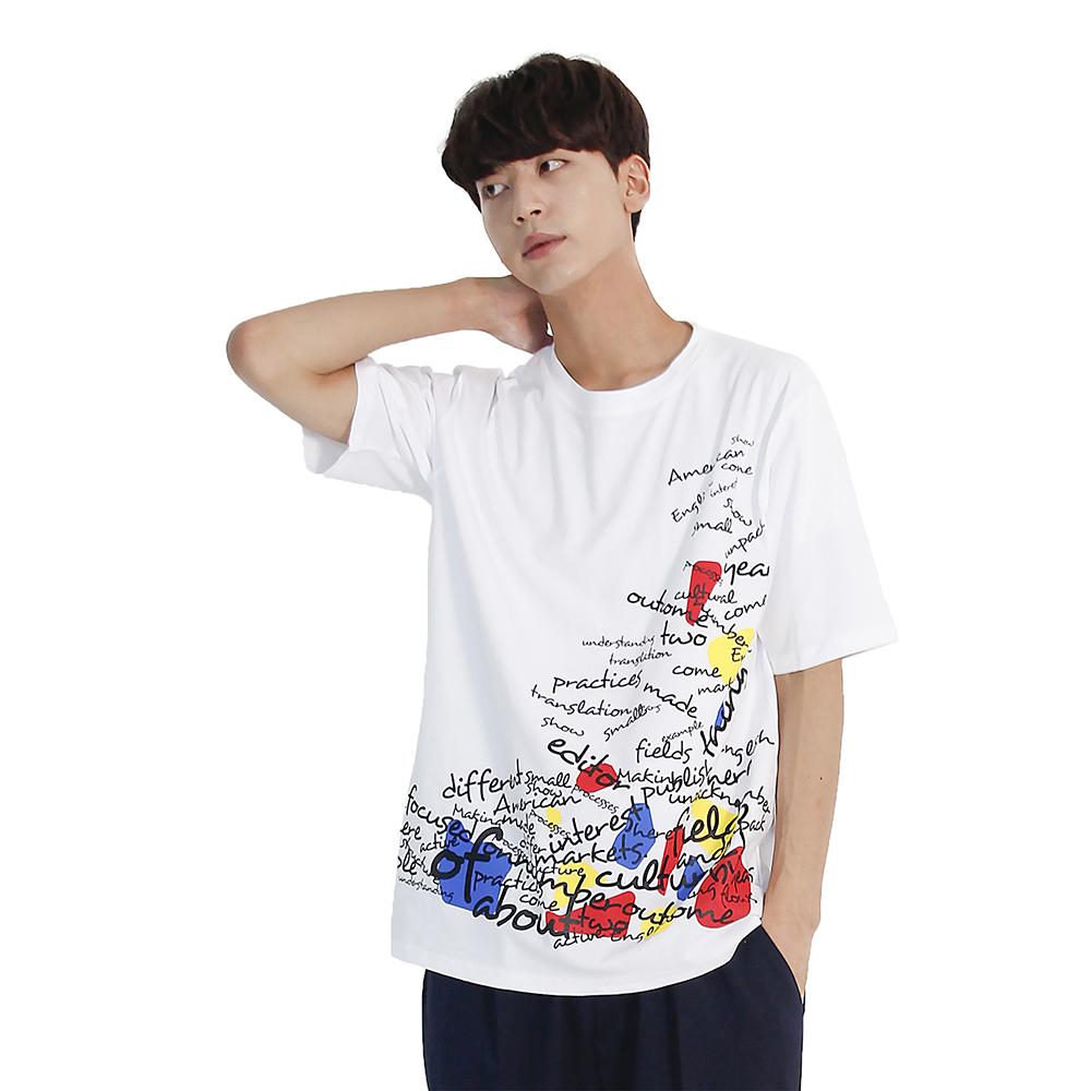 (UNISEX) Blah Blah Short Sleeve T-shirt (WHITE)