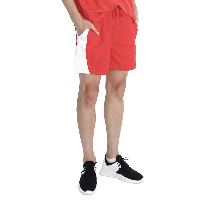 (UNISEX) MRMNT Color Track Shorts (RED)