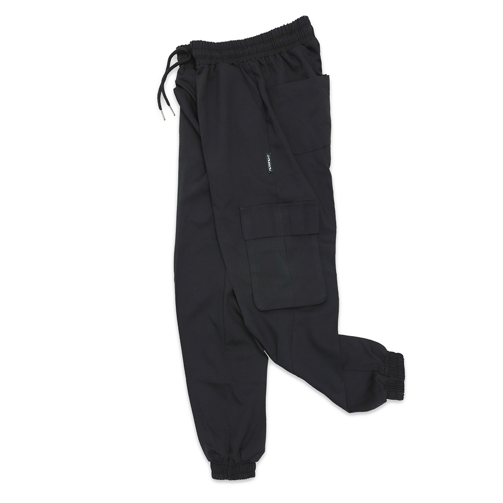 (UNISEX) M Royal Cargo-Jogger Pants (BLACK)