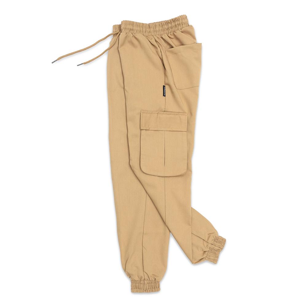(UNISEX) M Royal Cargo-Jogger Pants (BEIGE)