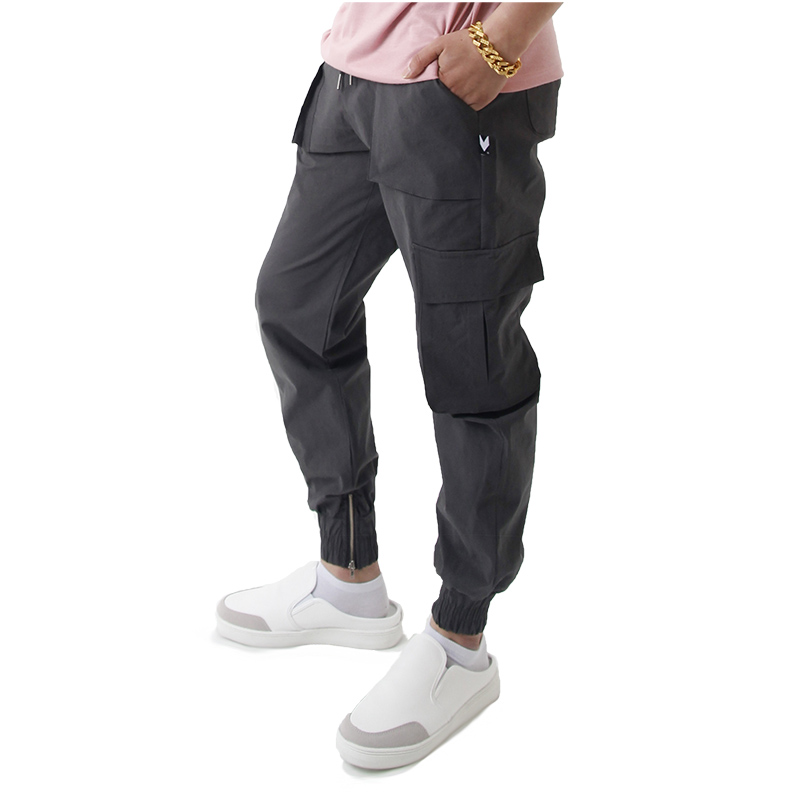 (UNISEX) Easy Zip-up Cargo-Jogger Pants (CHARCOAL)