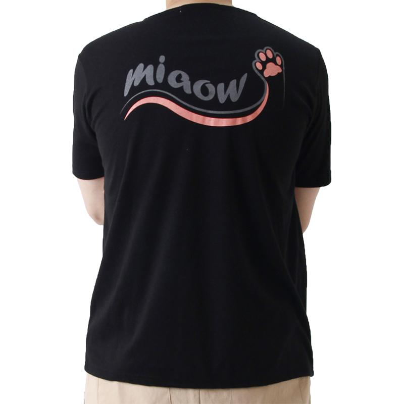(UNISEX) Cat Footprint Short Sleeve T (BLACK)