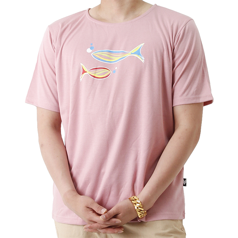 Grand Casting the Fish Short Sleeve T (PINK)