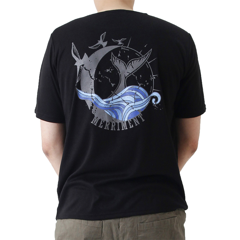 (UNISEX) Waves by Whales Short Sleeve T (BLACK)