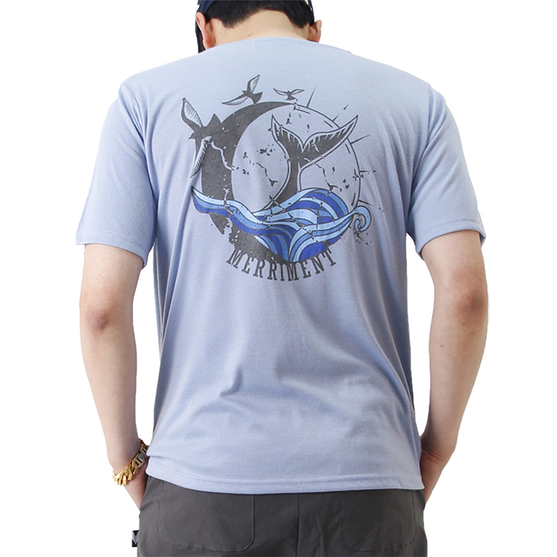 (UNISEX) Waves by Whales Short Sleeve T (SKY BLUE)