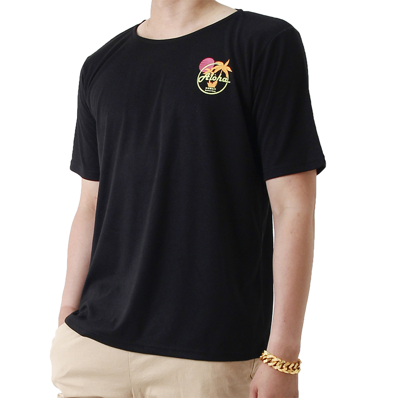 Aloha Hawaii Summer Short Sleeve T (BLACK)