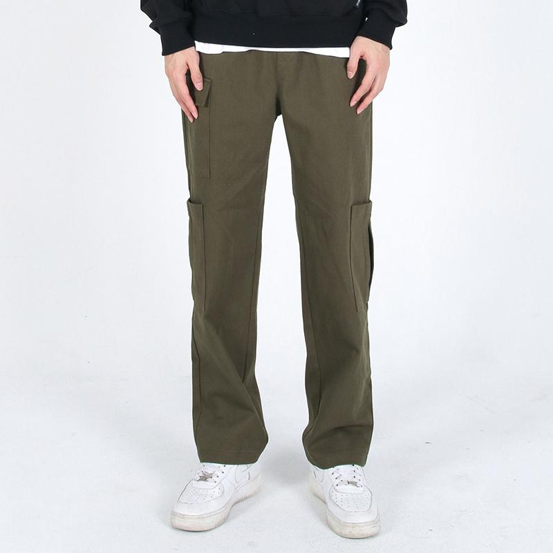 (UNISEX)Gargoyle Cargo Straight Span Pants(KHAKI)