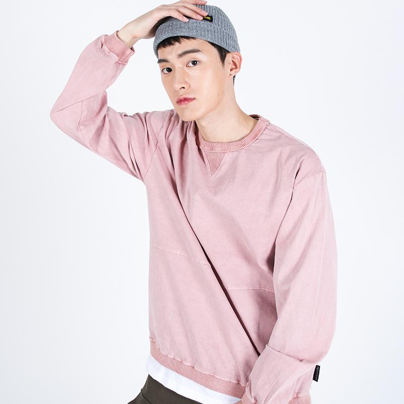 (UNISEX)Pigment crewneck Sweatshirt(PINK)