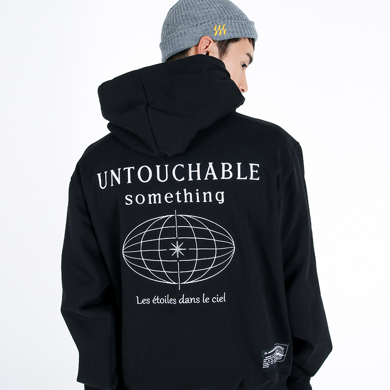 (UNISEX)950g Heavy Untouchable Hoodie(BLACK)